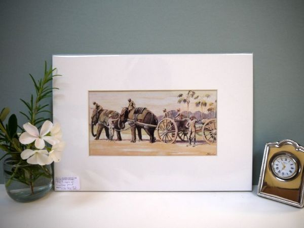 Elephant Gunners - 1980's print by Snaffles